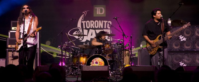 Los Lonely Boys in performance at 2011 TD Toronto Jazz Festival