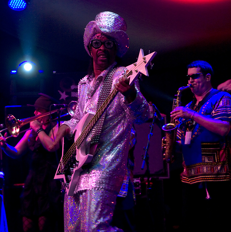 Bootsy Collins band in performance at 2011 TD Toronto Jazz Festival