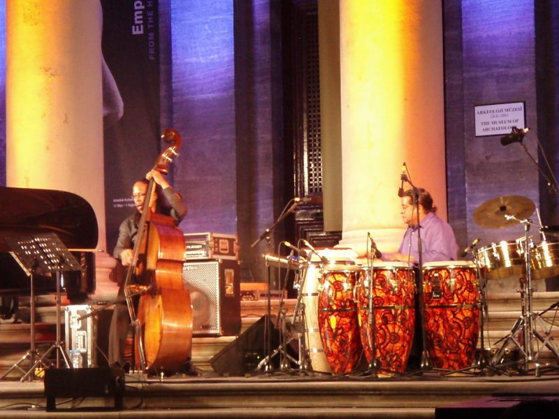 Michael Bowie, bass; Giovanni Hidalgo, congas