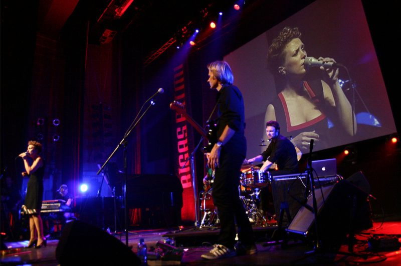 Beate S. Lech, Lars Andreas Aspesaeter, Marius Reksjø, Erik Holm of Beady Belle in Congress Centre at 2011 Riga Jazz Festival