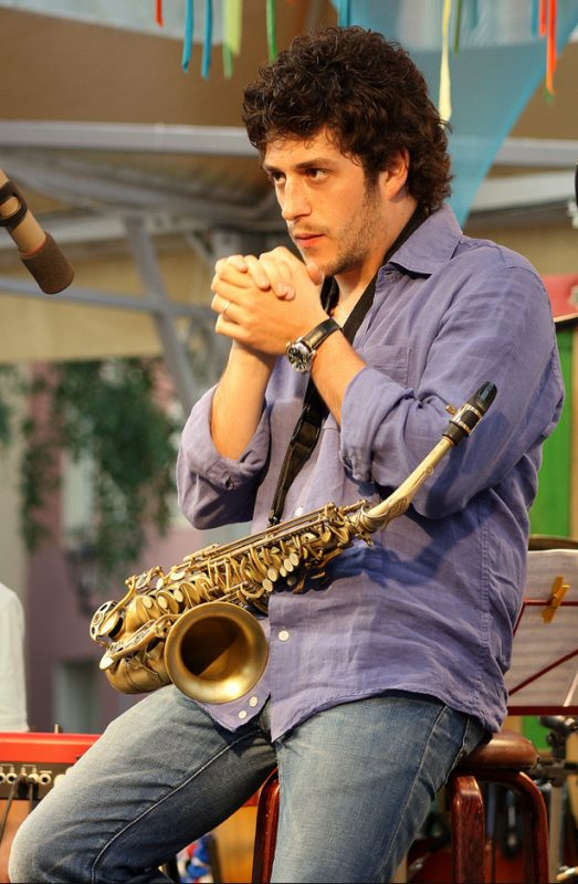Francesco Cafiso in the Open Air Leisure Park at 2011 Riga Jazz Festival