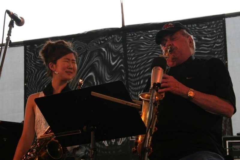 Grace Kelly and Phil Woods performing during the 2011 Newport Jazz Festival