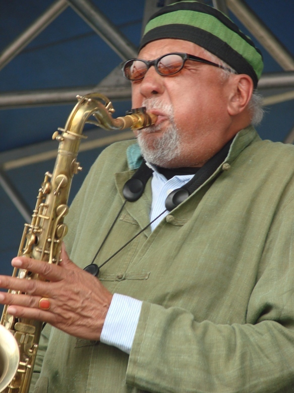 Charles Lloyd at the 2011 Newport Jazz Festival (photo by Heather Franckling)