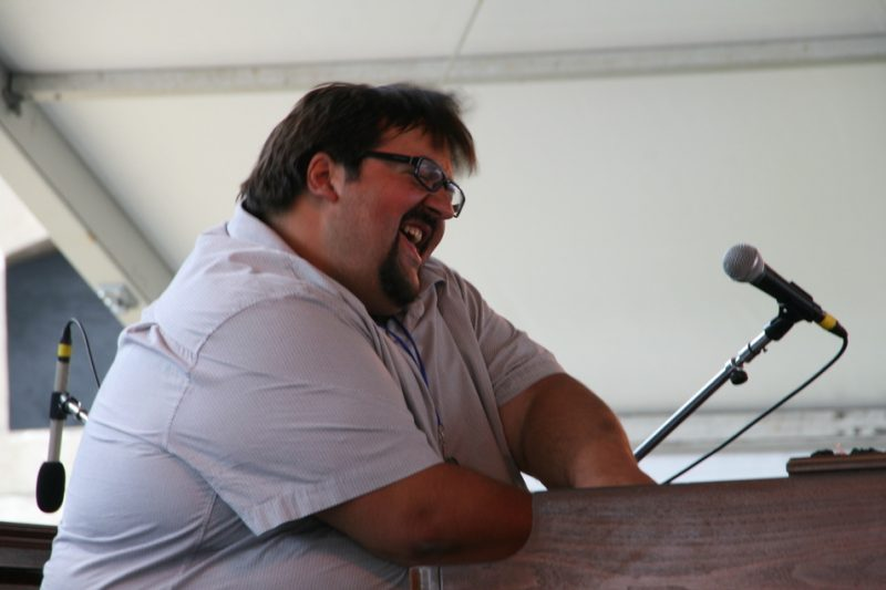 Joey DeFrancesco performing during the 2011 Newport Jazz Festival