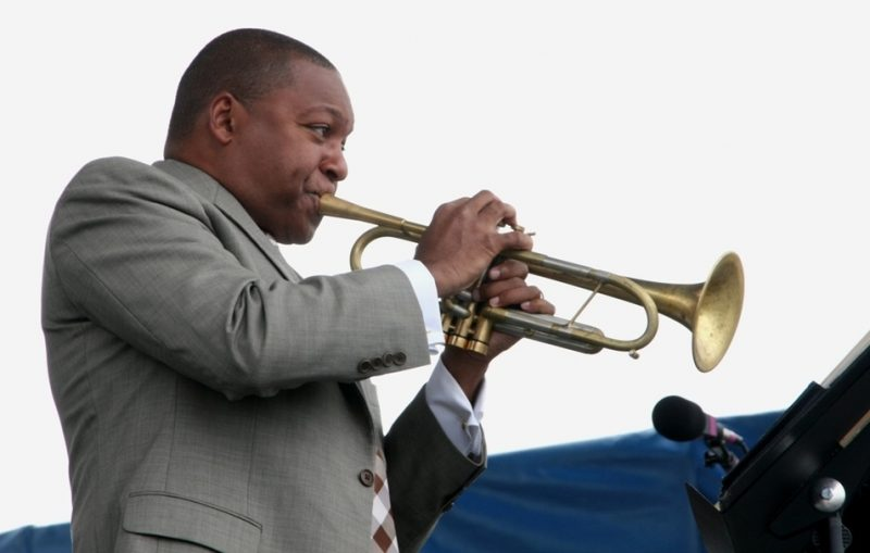 Wynton Marsalis performing during the 2011 Newport Jazz Festival