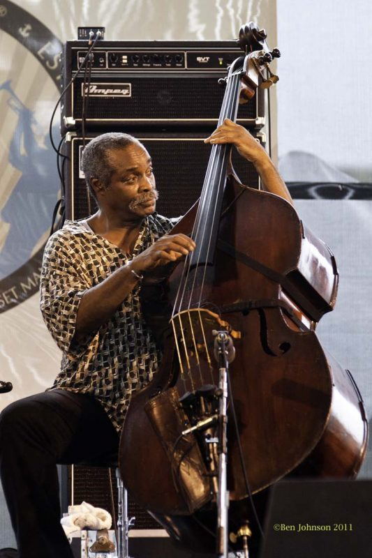 Alex Blake performing at the 2011 Newport Jazz Festival