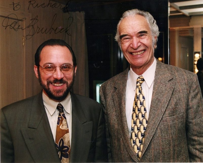 Richie OKon and Dave Brubeck at the Blue Note