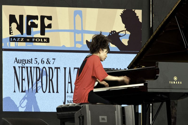 Hiromi performing solo at the 2011 Newport Jazz Festival