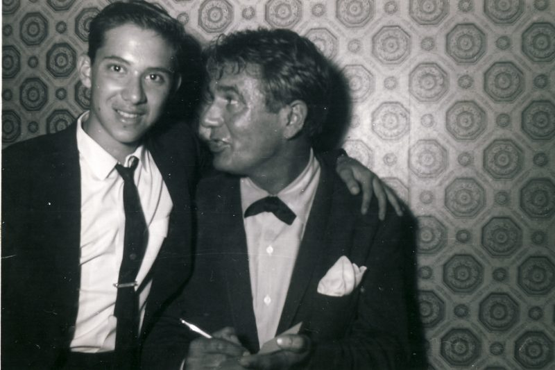 Richie OKon with Gene Krupa in 1959