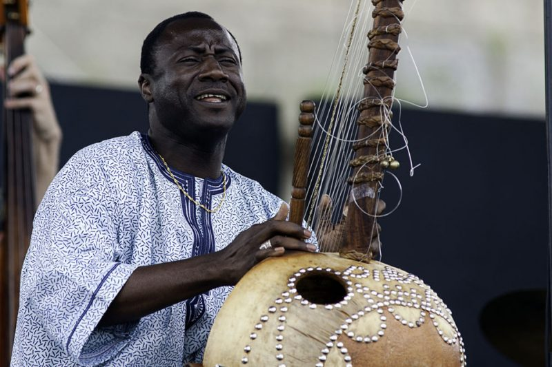 Vacouba Sissoko performing at the 2011 Newport Jazz Festival