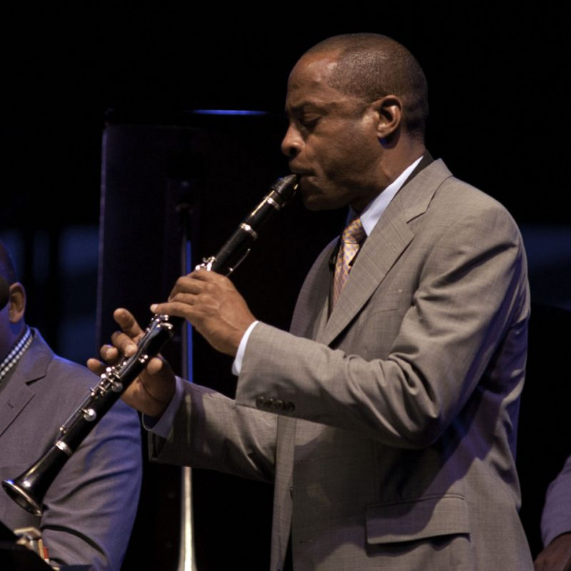 Walter Blanding performing with Wynton Marsalis at the 2011 Newport Jazz Festival