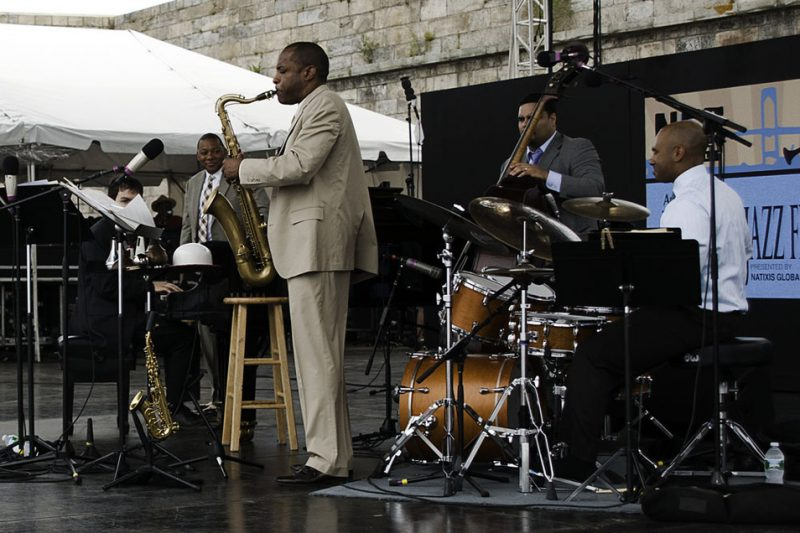 The Wynton Marsalis Quintet performing at the 2011 Newport Jazz Festival