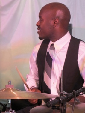 Drummer Ulysses Owens in the 2011 Tanglewood Jazz Festival's Jazz Cafe