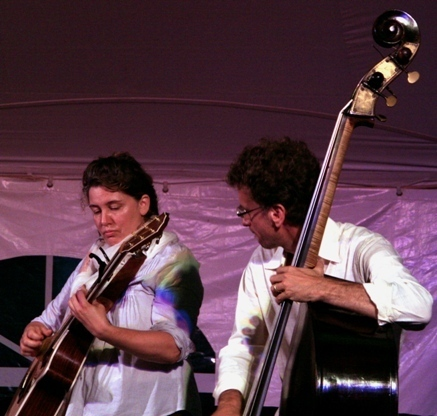 Rebecca Martiin and Larry Grenadier at the 2011 Tanglewood Jazz Festival's Jazz Cafe