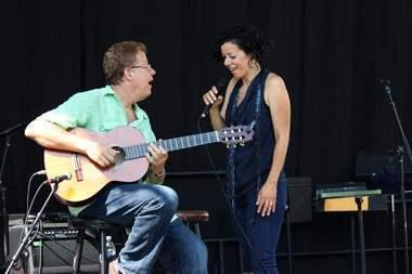 Luciana Souza and Romero Lubambo at 2011 Detroit Jazz Festival
