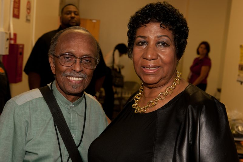 Jimmy Heath and Aretha Franklin at the 2011 Monk piano competition semi-finals