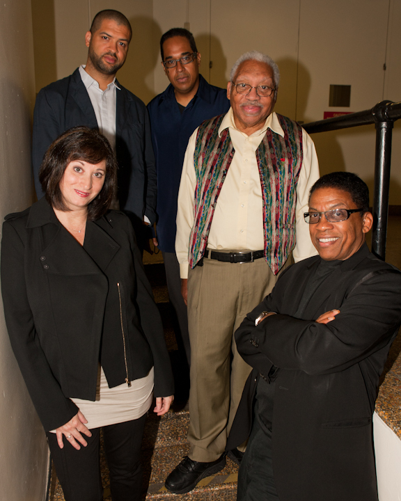 The judges' panel, clockwise from top left: Jason Moran, Danilo Pérez, Ellis Marsalis, Herbie Hancock and Renee Rosnes