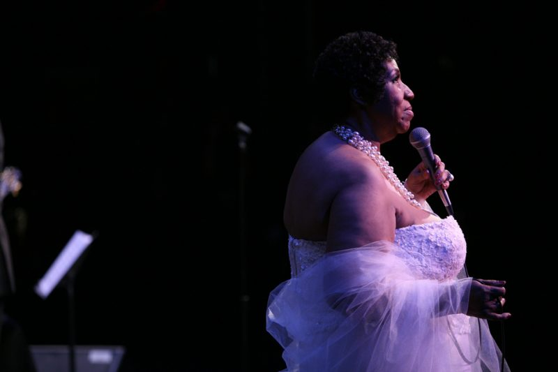 Aretha Franklin onstage at the 25th Anniversary Monk Institute Celebration