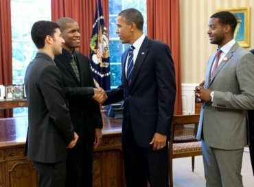 Monk Competiton Finalists Meet President Obama