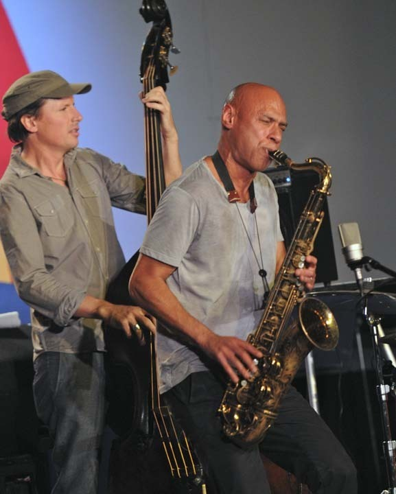 Matt Penman and Joshua Redman in performance at 2011 Monterey Jazz Festival