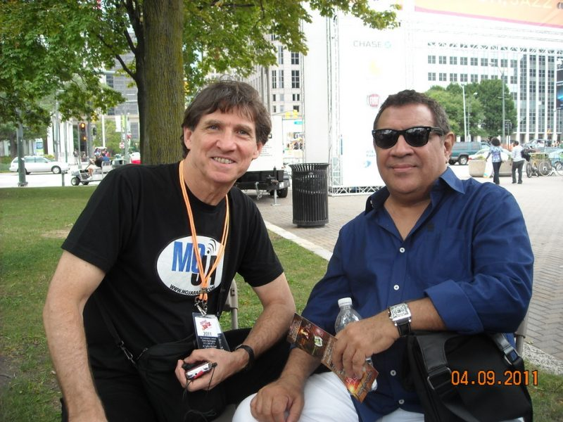 Russ Davis and Sammy Figueroa at 2011 Detroit Jazz Festival