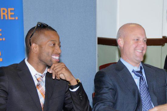 Trombone Shorty and New Orleans Mayor Mitch Landrieu image 0