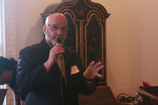 Gary Walker of WBGO FM addresses members and donors about new transmitter system in NYC image 0