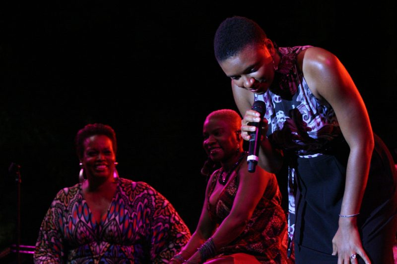 Dianne Reeves, Angelique Kidjo and Lizz Wright at 2011 Detroit Jazz Festival