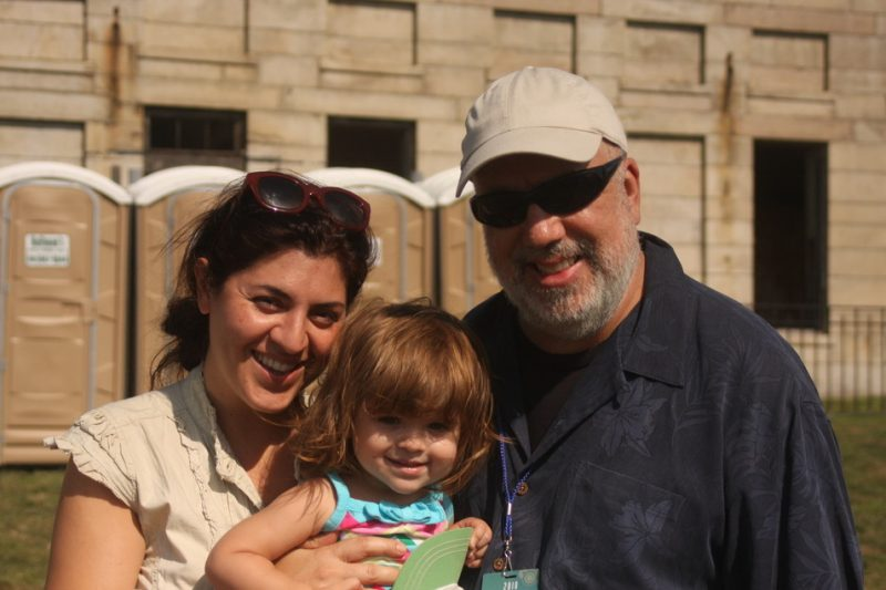 Ada Rovatti, Randy Brecker and their daughter at CareFusion Newport Jazz Festival 2010