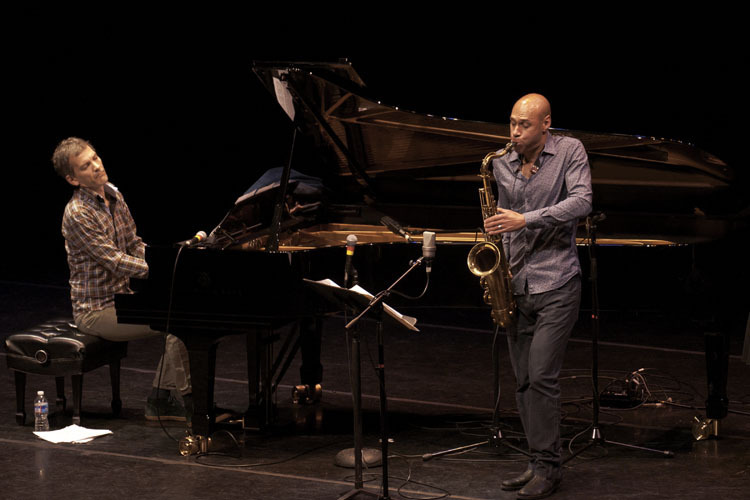 Brad Mehldau and Joshua Redman in performance at Zellerbach Theater in Philadelphia