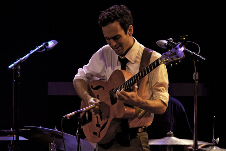 Julian Lage in performance with the Gary Burton Quartet at World Cafe Live in Philadelphia