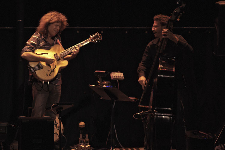 Pat Metheny and Larry Grenadier in performance from Opera House in Wilmington in October 2011
