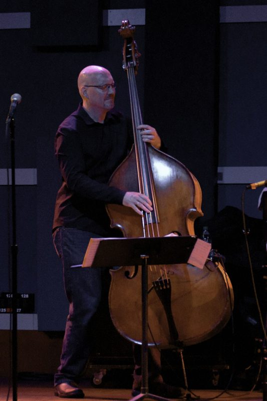 Scott Colley in performance with the Gary Burton Quartet at World Cafe Live in Philadelphia