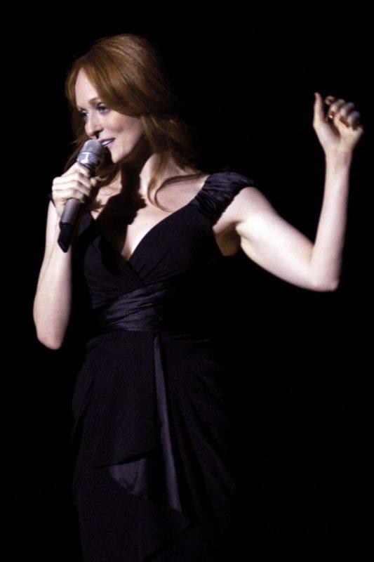 Antonia Bennett in performance with Tony Bennett at Academy of Music in Philadelphia