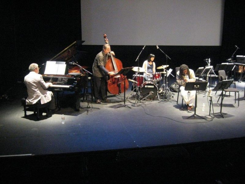 Golden Quartet in rehearsals for performance of Ten Freedom Summers in October 2011