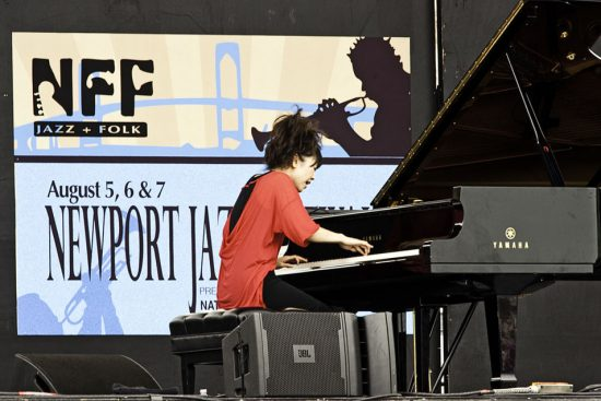 Hiromi performing solo at the 2011 Newport Jazz Festival image 0