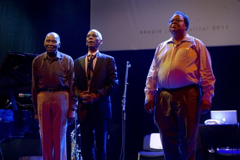 Muhal Richard Abrams, Roscoe Mitchell, and George Lewis at Skopje Jazz Festival, Oct. 2011