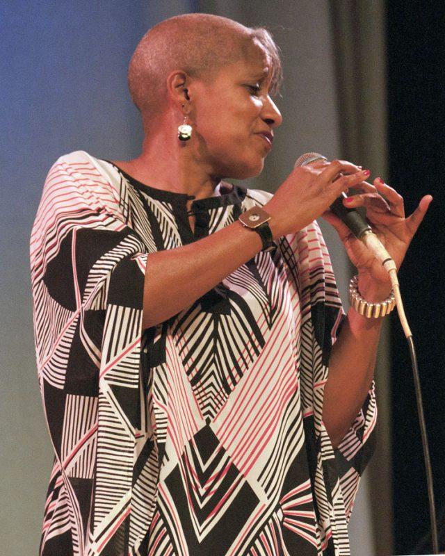 Rene Marie in performance at Appel Farm in Elmer, NJ