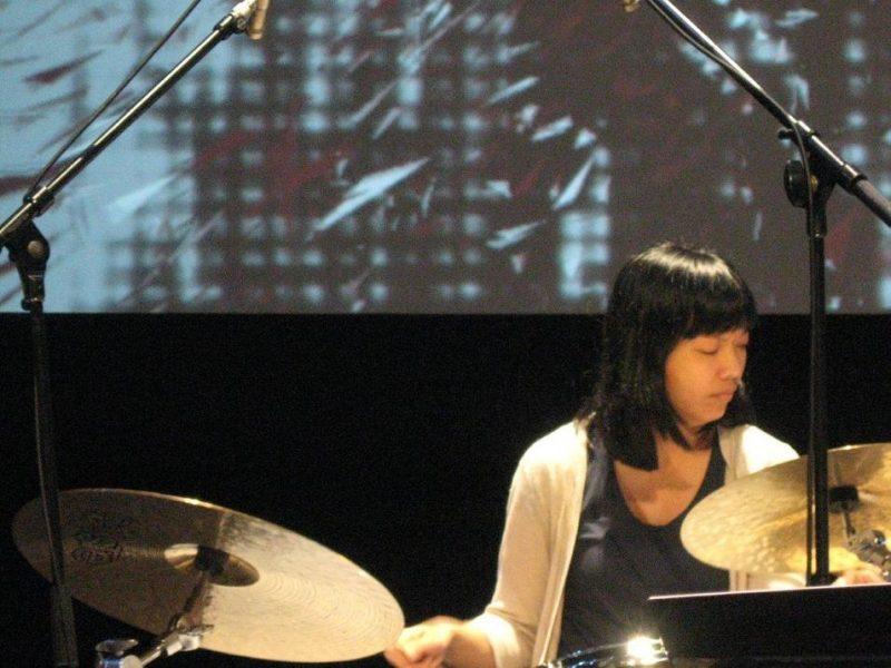 Susie Ibarra in performance of Ten Freedom Summers in October 2011
