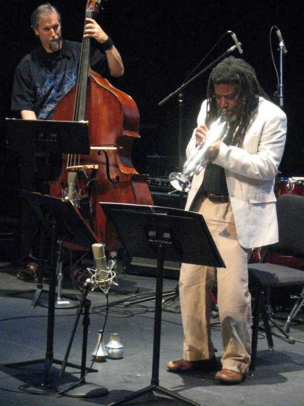 Wadada Leo Smith and John Lindberg in performance ofTen Freedom Summers in October 2011