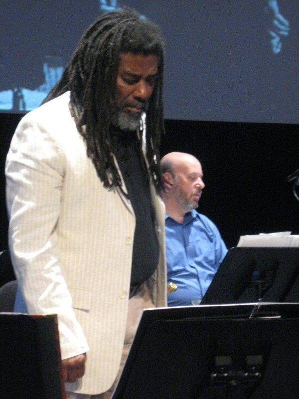 Wadada Leo Smith and Larry Kaplan in performance ofTen Freedom Summers in October 2011