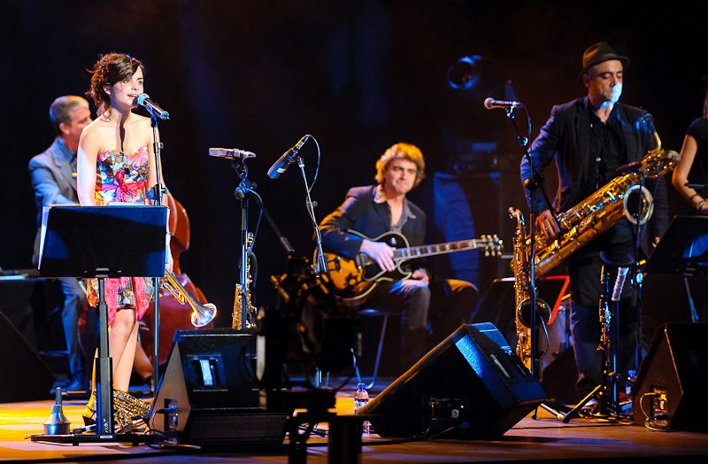 Andrea Motis (vocals) and band at the 2011 Barcelona International Jazz Festival