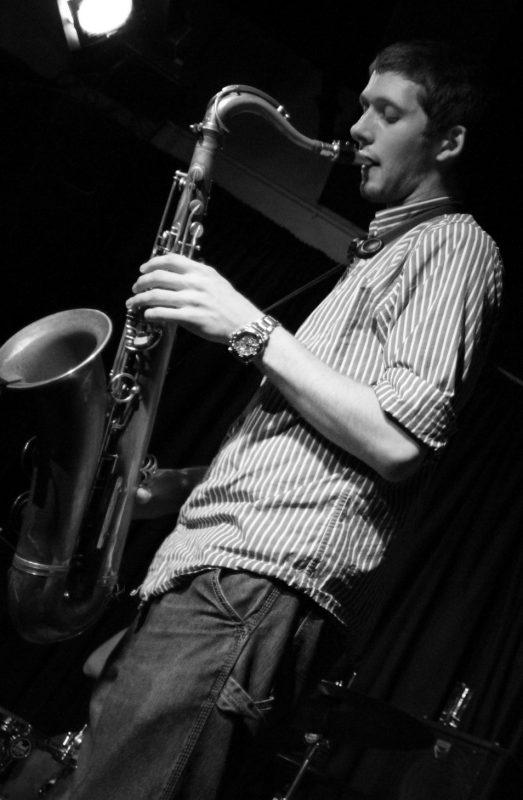 Fraser Campbell of Secret Architecture at the Jazz Bar, Edinburgh, Scotland, Nov. 2011