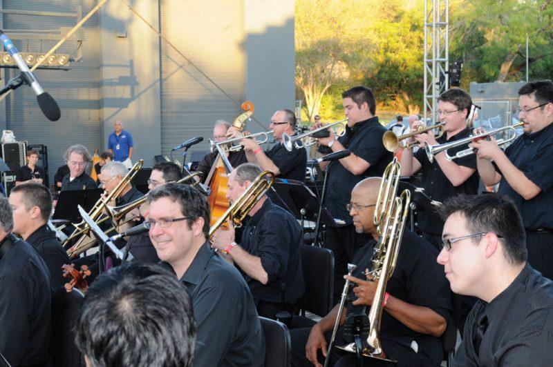 """The San Antonio Jazz All-Stars perform Aaron Prado's """"San Antonio Jazz Suite,"""" Oct. 23, 2011 (photo courtesy of Trinity University)"""
