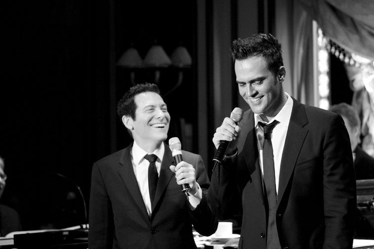 Michael Feinstein with Cheyenne Jackson, photo by Marion Curtis/Starpix