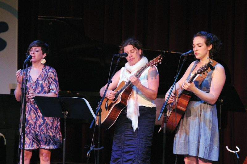 Tillery (l. to r.): Gretchen Parlato, Rebecca Martin and Becca Stevens, live at Stanford University, 2011