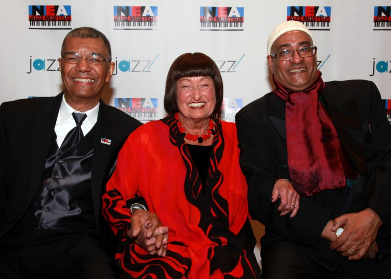 Jack DeJohnette, Sheila Jordan and Jimmy Owens at the 2012 NEA Jazz Masters awards