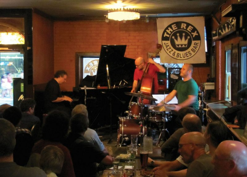 Uri Caine, John Hébert, Ben Perowsky in Toronto, 2011. Photo by Jan Caine