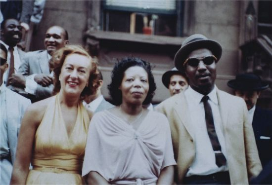 "Marian McPartland, Mary Lou Williams and Thelonious Monk at ""A Great Day in Harlem"" gathering for Esquire magazine, New York City, 1958 image 0"