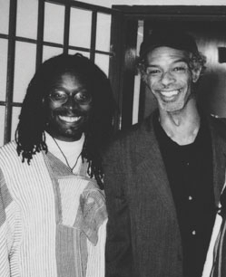 Gil Scott-Heron (right) and Brian Jackson in South Africa, 1998